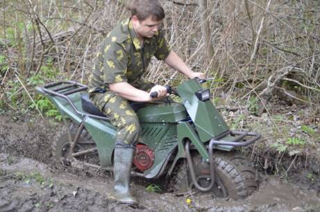 Taurus 2x2: two wheel drive system makes it very capable in boggy mud